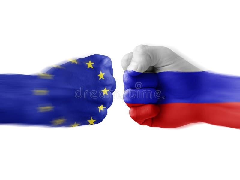 Eu x Rusia imágenes de archivo libres de regalías