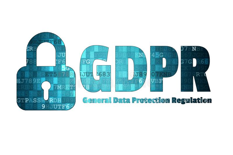 EU-Sicherheitstechnikhintergrund der Europäischen Gemeinschaft des allgemeine Daten-Schutz-vorgeschriebener GDPR lizenzfreie stockfotografie