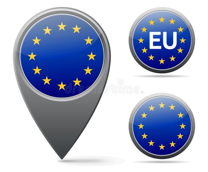 EU sjunker royaltyfri illustrationer