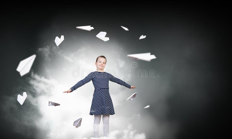Eu sonho-me posso voar imagem de stock