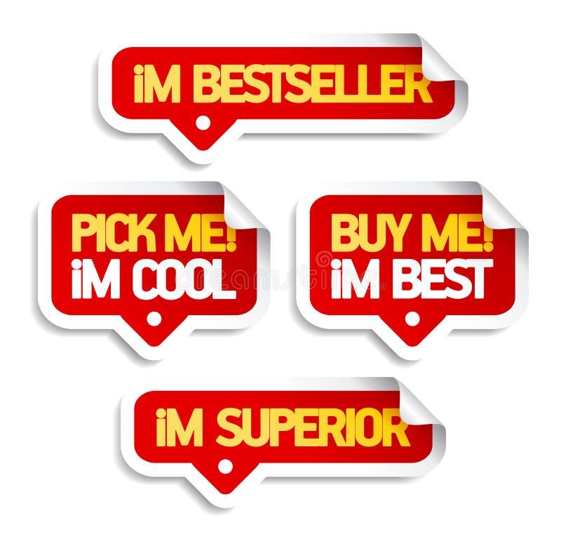 Eu sou bestseller, compro-me. ilustração royalty free