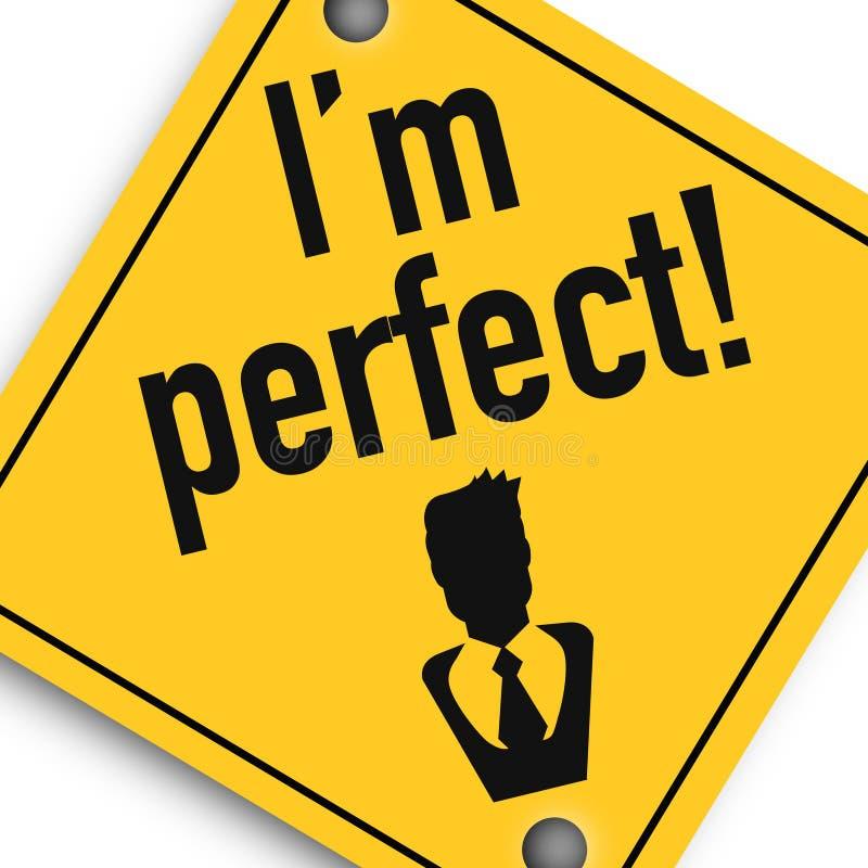 Eu sou perfeito - cartaz da imagem do negócio, qualidade super ilustração royalty free