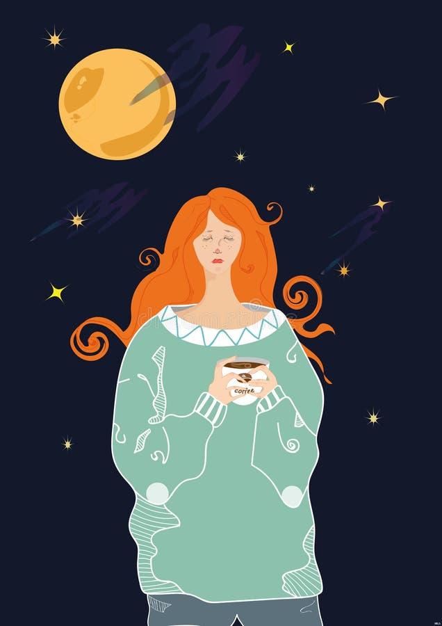 Eu sou um sonhador ilustração stock