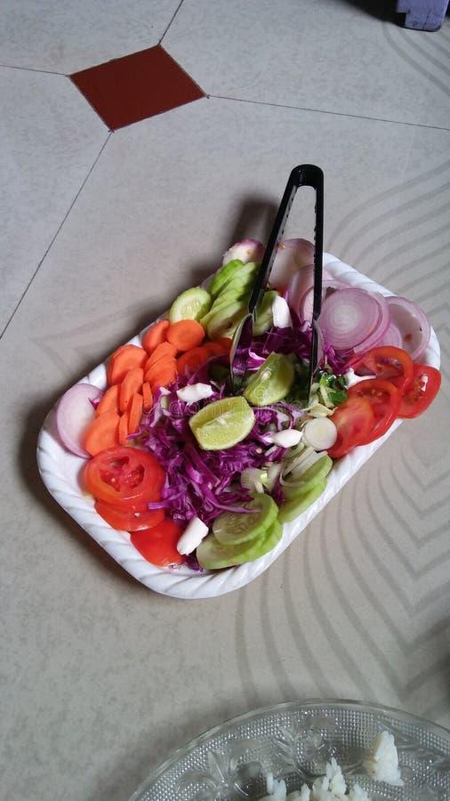 Eu submeto a imagem da salada imagens de stock royalty free