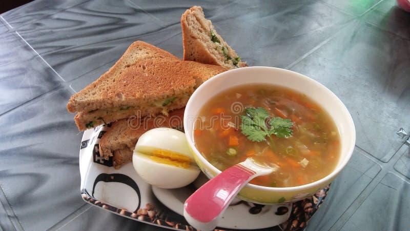 Eu submeto a imagem de um café da manhã saudável popular imagens de stock