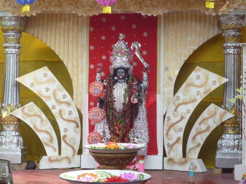 Eu submeto a imagem do ` indiano de Maa Kali do ` da deusa fotos de stock