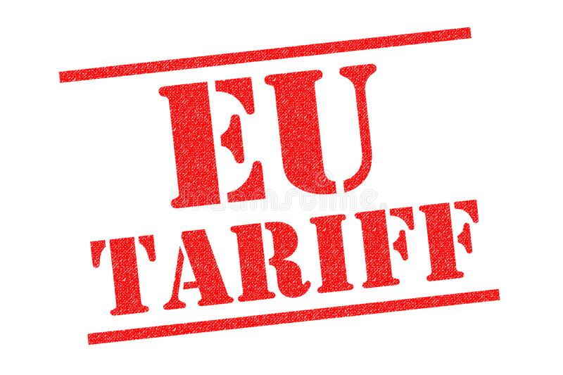 EU TARIFF Rubber Stamp. EU TARIFF red Rubber Stamp over a white background royalty free illustration
