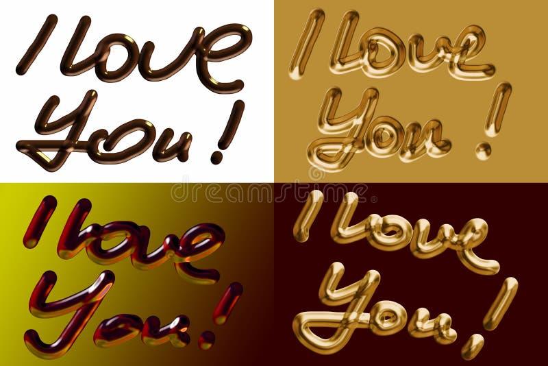Eu te amo! ilustração do vetor