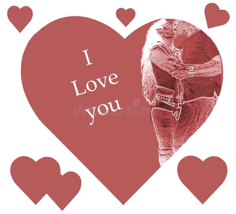 Download Eu te amo ilustração stock. Ilustração de sweetheart, rosas - 69825