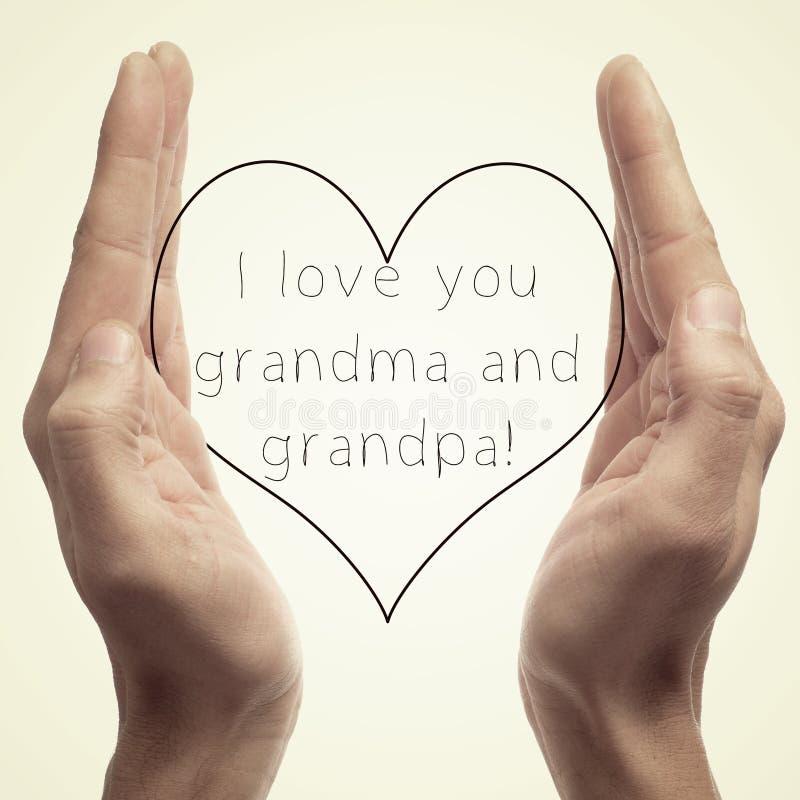 Eu te amo avó e vovô fotos de stock royalty free