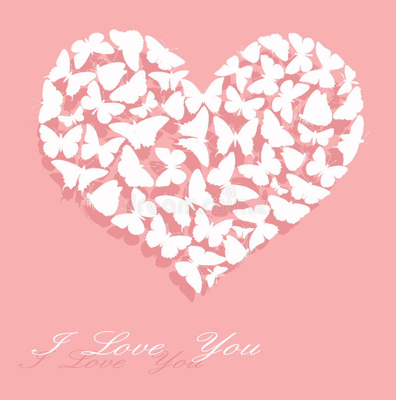 Eu te amo. Cartão do dia do Valentim ilustração royalty free