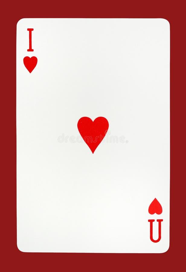 Eu te amo conceito do cartão de jogo imagens de stock