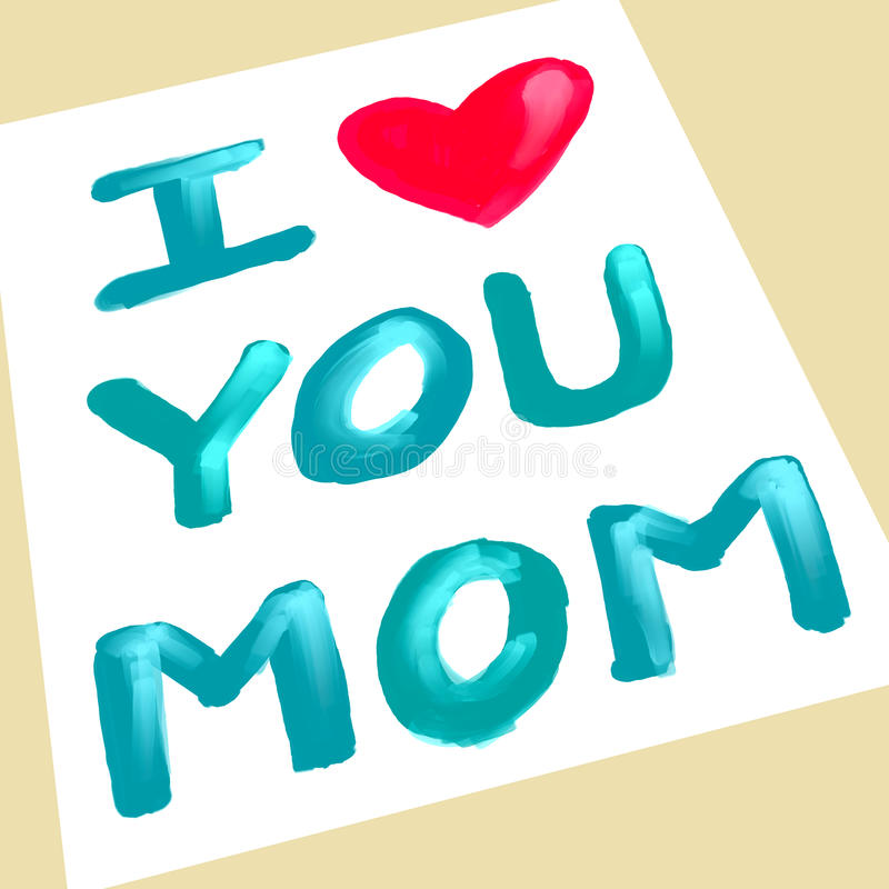 Eu te amo mamã ilustração stock