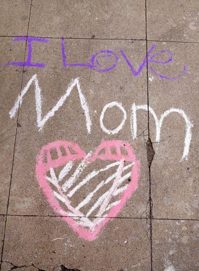 Eu te amo mam? foto de stock royalty free