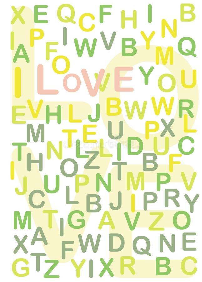Eu te amo texto escondido ilustração royalty free