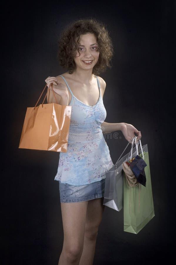 Download Eu tenho comprado foto de stock. Imagem de shopping, mulher - 543620