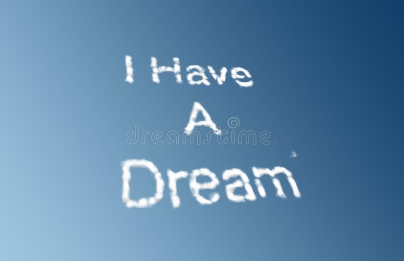 Eu tenho nuvens de um sonho ilustração do vetor