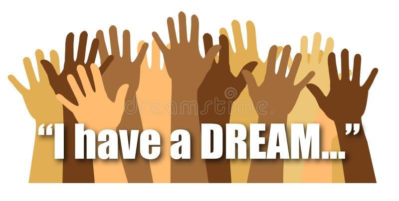 Eu tenho um sonho/eps ilustração royalty free