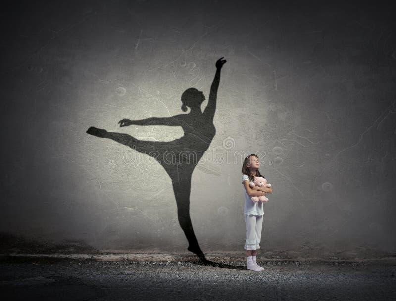 Eu transformar-me-ei bailarina fotografia de stock
