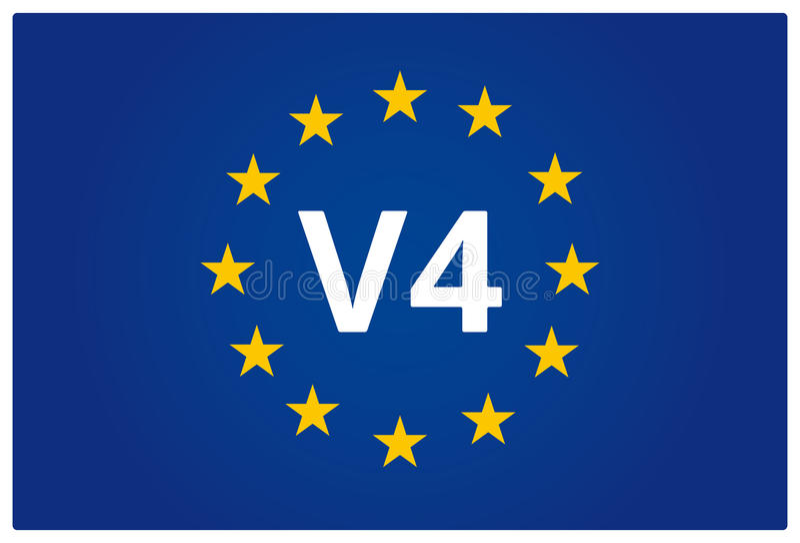 EU V4 sjunker stock illustrationer