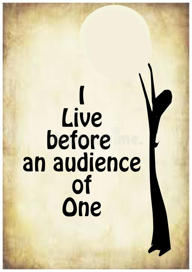 Eu vivo antes de uma audiência de uma ilustração stock