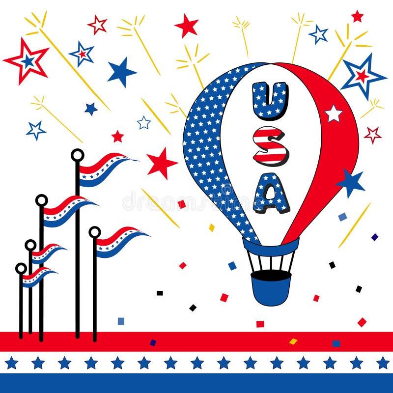 EUA! ilustração do vetor