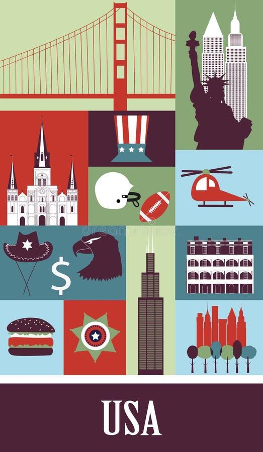 EUA ilustração stock