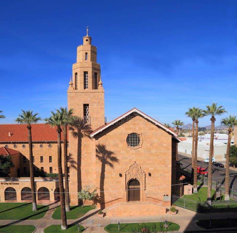 EUA, AZ/Phoenix: Igreja histórica imagens de stock
