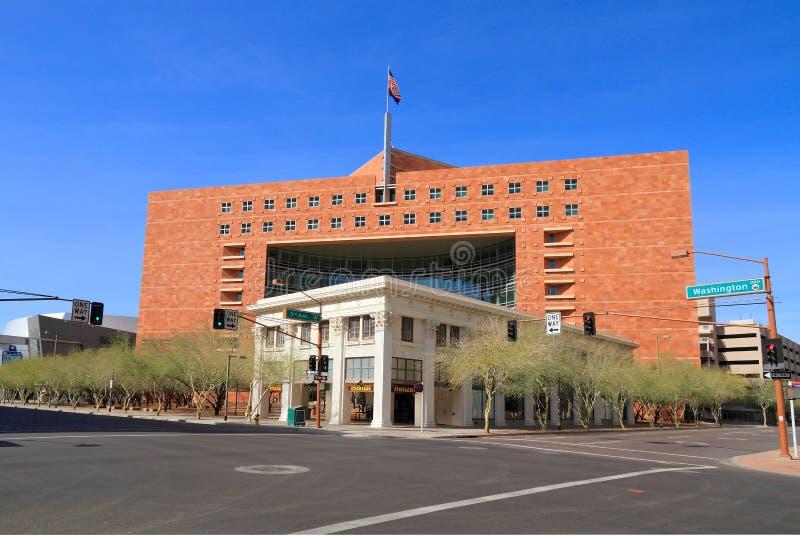 EUA, AZ/Phoenix: Walker Building - o tribunal municipal imagem de stock