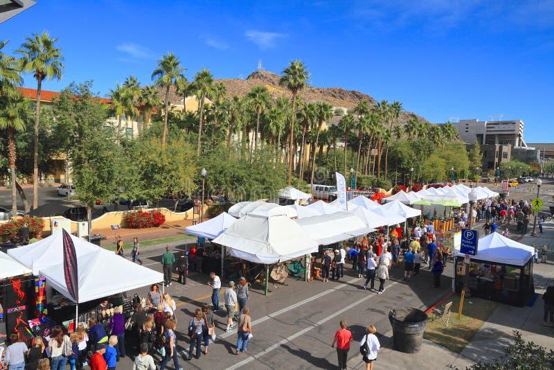 EUA, AZ/Tempe: Festival das artes - artista Booths foto de stock