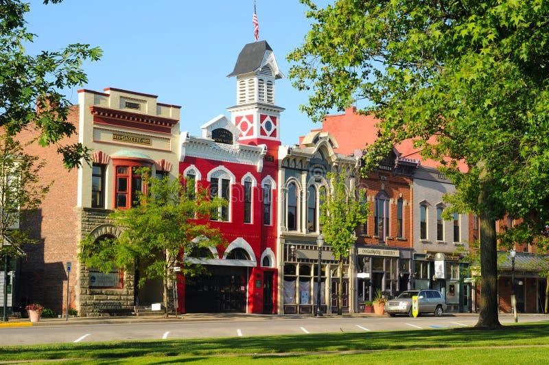 EUA cidades pequena imagens de stock royalty free