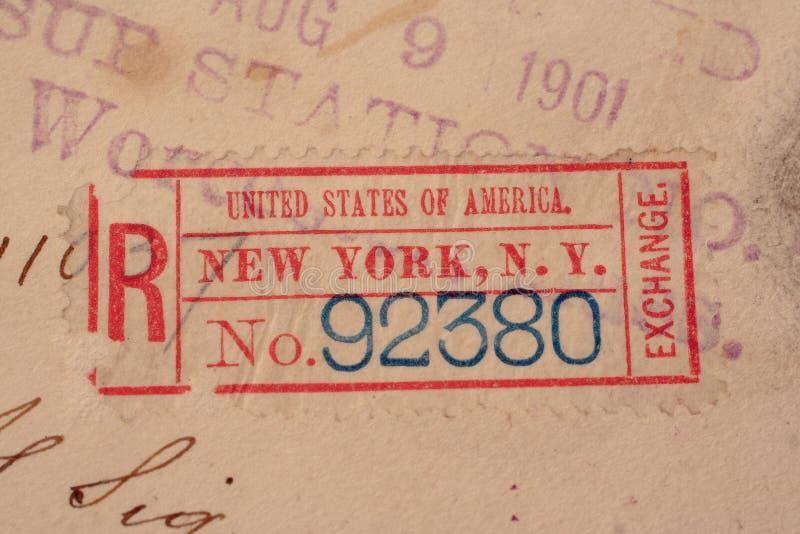 EUA CIRCA 1901 fotografia de stock royalty free