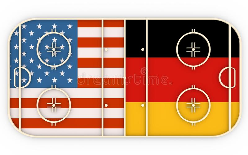 EUA contra Alemanha ilustração stock