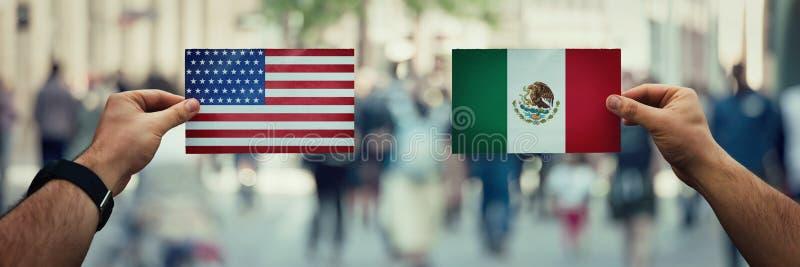 EUA contra México fotos de stock royalty free