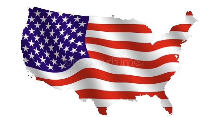 EUA de ondulação ilustração stock