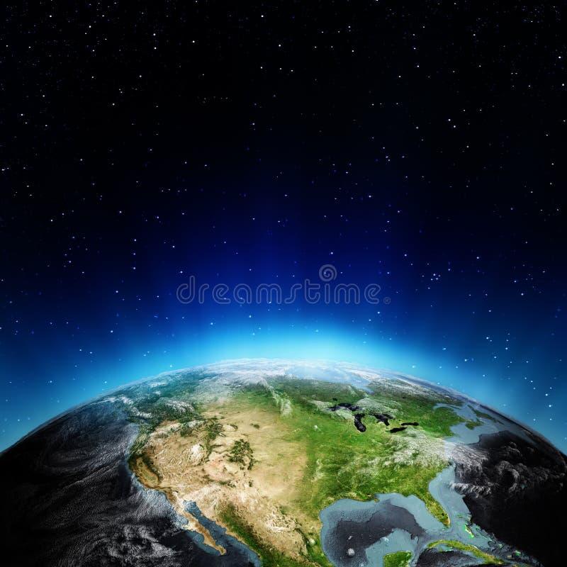 EUA do espaço ilustração do vetor