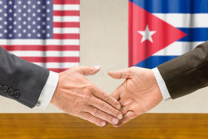 EUA e Cuba fotografia de stock