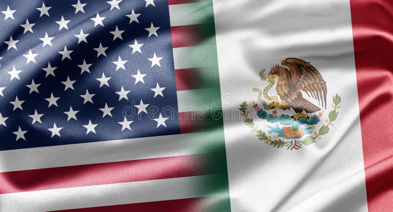 EUA e México imagem de stock