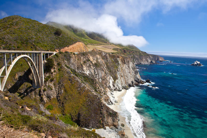 EUA - Estrada uma da Costa do Pacífico imagens de stock royalty free