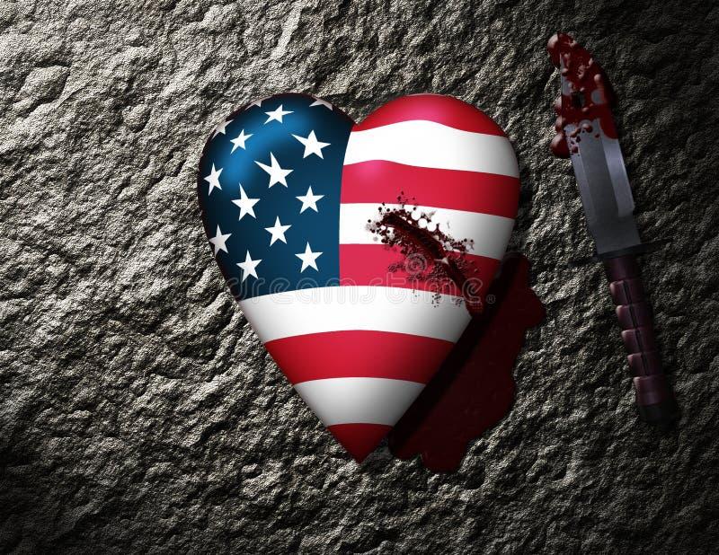 EUA feridos ilustração stock