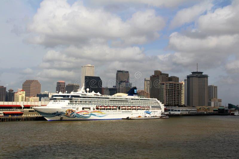 EUA, Louisiana, Nova Orleães - rio Mississípi imagem de stock royalty free