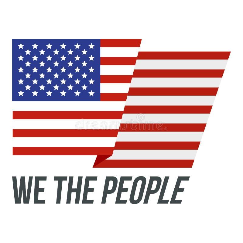 EUA nós o ícone do logotipo dos povos, estilo liso ilustração do vetor