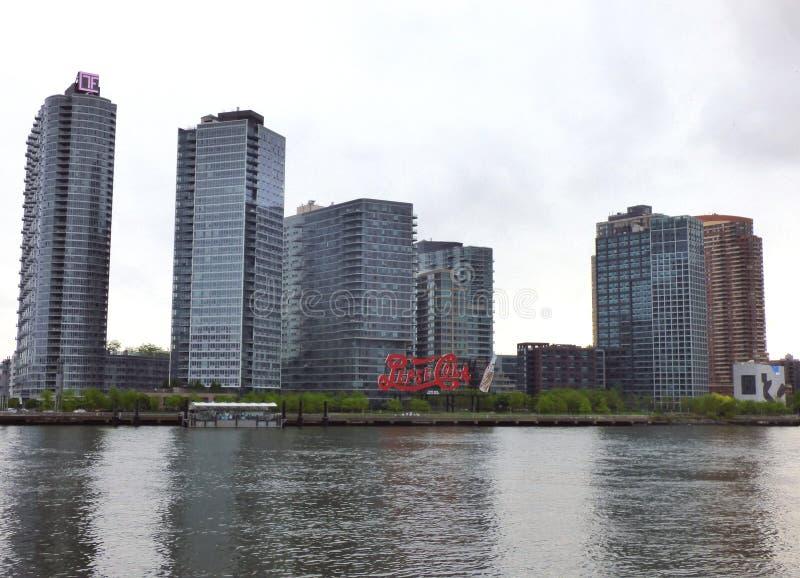 EUA New York Sinal da cola de Pepsi imagens de stock royalty free