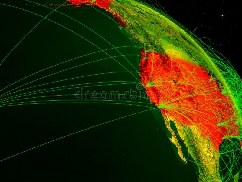 EUA no globo digital imagem de stock royalty free