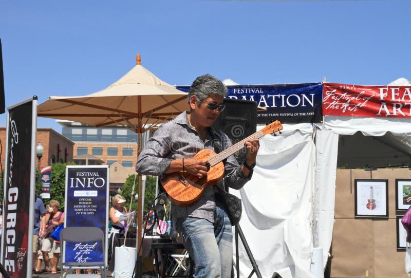 EUA, o Arizona: Músico Patrick Ki imagens de stock