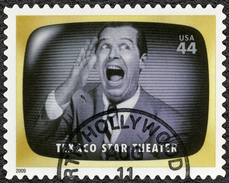 EUA - 2009: teatro da estrela de Texaco das mostras, memória adiantada da tevê foto de stock