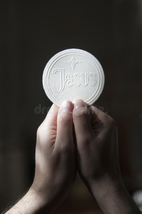 Eucaristía fotografía de archivo