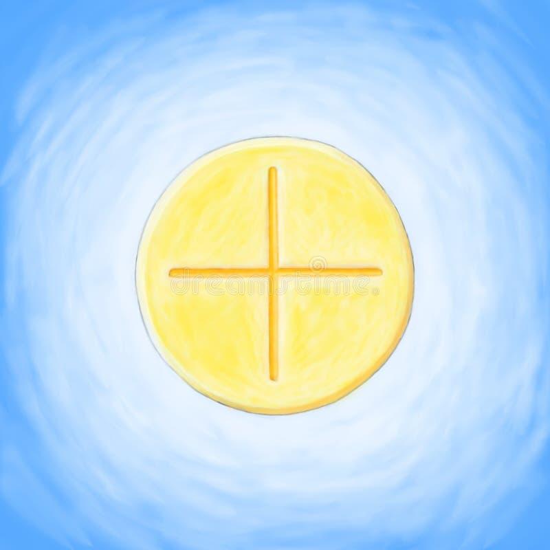 Eucharist do anfitrião ilustração royalty free