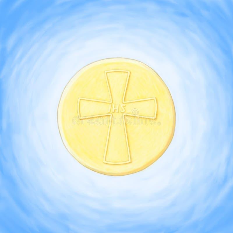 Eucharist do anfitrião ilustração stock