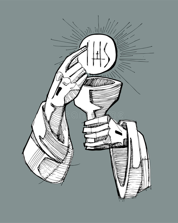 Eucharist vector illustration